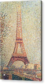 The Eiffel Tower Acrylic Print by Georges Pierre Seurat