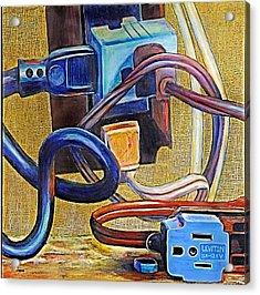 The Electronic Age Acrylic Print by JAXINE Cummins