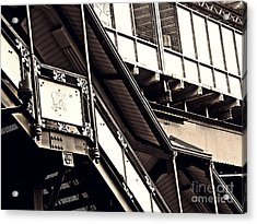 The Elevated Station At 125th Street 2 Acrylic Print by Sarah Loft