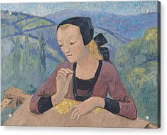 The Embroideress Acrylic Print by Paul Serusier