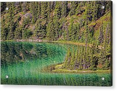The Emerald Green Waters Of Emerald Acrylic Print by Robert Postma