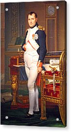 The Emperor Napoleon In His Study At The Tuileries By Jacques Louis David Acrylic Print by Cora Wandel