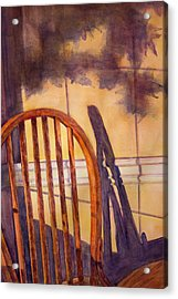 The Empty Chair Acrylic Print by Janet Felts