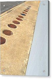 The Empty Sidewalk Acrylic Print by Ross Odom