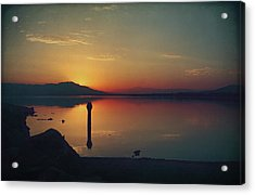 The End Of Another Day Without You Acrylic Print by Laurie Search