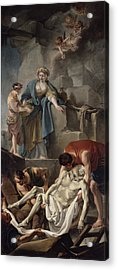 The Entombment Of St. Andrew, 1760 Oil On Canvas Acrylic Print by Jean Baptiste Deshays de Colleville