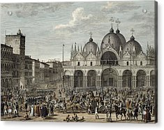 The Entry Of The French Into Venice Acrylic Print by Antoine Charles Horace Vernet