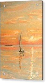 The Evening Light Acrylic Print by The Beach  Dreamer
