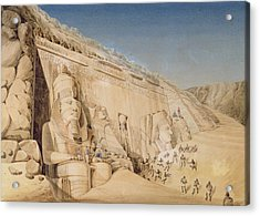 The Excavation Of The Great Temple Acrylic Print by Louis M.A. Linant de Bellefonds