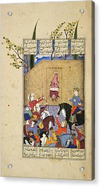 The Execution Of Mazdak Acrylic Print by British Library