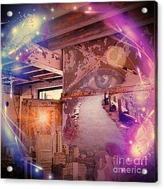 The Eye In Circle  Acrylic Print by Dita Van Stipriaan