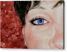 The Eyes Have It - Nicole Acrylic Print by Sam Sidders