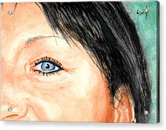 The Eyes Have It - Tami Acrylic Print by Sam Sidders
