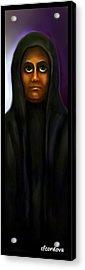 The Face Of Evil Acrylic Print by Carmen Cordova