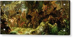 The Fairy Raid Acrylic Print by Sir Joseph Noel Paton