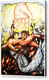 The Fallen Angel Acrylic Print by Derrick Rathgeber