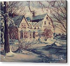The Farm Acrylic Print by Joy Nichols