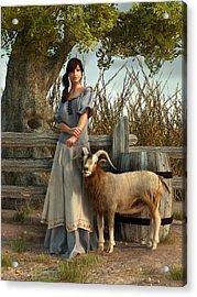 The Farmer's Daughter Acrylic Print by Daniel Eskridge