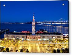 The Ferry Building In Downtown San Francisco Acrylic Print by Mel Ashar