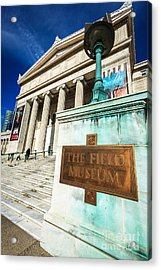 The Field Museum Sign In Chicago Acrylic Print by Paul Velgos