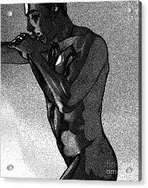 The Fighter Acrylic Print by Robert D McBain