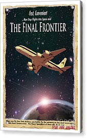 The Final Frontier Acrylic Print by Juli Scalzi
