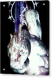 The Finger Acrylic Print by Ed Weidman