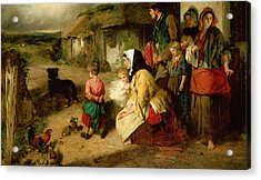 The First Break In The Family Acrylic Print by Thomas Faed