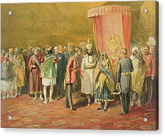 The First Investiture Of The Star Acrylic Print by William 'Crimea' Simpson