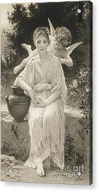 The First Whisper Of Love After Bouguereau Acrylic Print by  John Douglas Miller