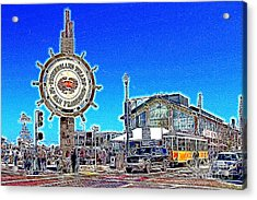 The Fishermans Wharf San Francisco California 7d14232 Artwork Acrylic Print by Wingsdomain Art and Photography