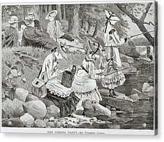 The Fishing Party Acrylic Print by Winslow Homer