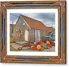 The Fishing Village Scene Acrylic Print by Betsy C Knapp