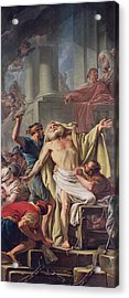 The Flagellation Of St. Andrew, 1761 Oil On Canvas Acrylic Print by Jean Baptiste Deshays de Colleville