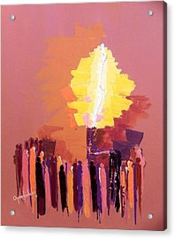 The Flare A Beacon Of Hope And Anguish Acrylic Print by Oyoroko Ken ochuko