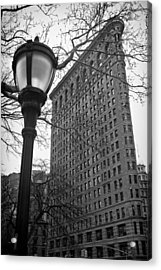 The Flatiron Building In New York City Acrylic Print by Ilker Goksen