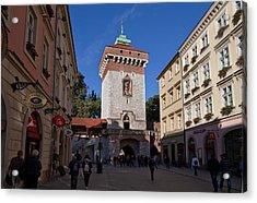 The Florianska Gate, Krakow, Poland Acrylic Print by Panoramic Images
