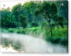 The Foggy Lake Acrylic Print by Kimberleigh Ladd