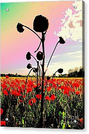 The Forgotten Of Van Gogh - 13 Acrylic Print by Flow Fitzgerald