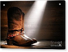 The Found Boots Acrylic Print by Olivier Le Queinec