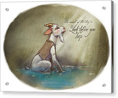 The Fox And The Goat Iv Acrylic Print by Ashraf Ghori
