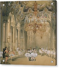 The Foyer Of The Opera During The Interval Acrylic Print by French School