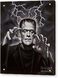The Frankenstein Monster Acrylic Print by Dick Bobnick