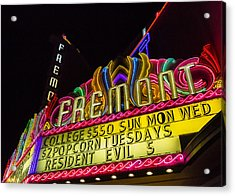 The Fremont Acrylic Print by Caitlyn  Grasso