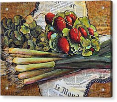 The French Cook Acrylic Print by JAXINE Cummins