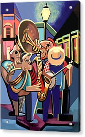 The French Quarter Acrylic Print by Anthony Falbo