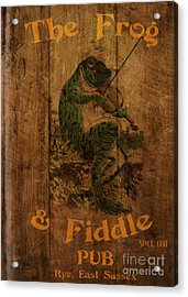 The Frog And Fiddle Pub Acrylic Print by Cinema Photography