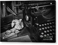 The Frustrated Writer Acrylic Print by Paul Ward