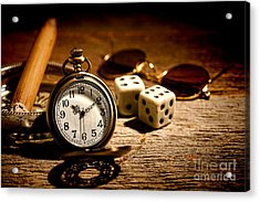 The Gambler's Watch Acrylic Print by Olivier Le Queinec