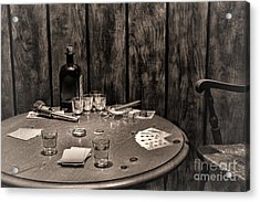 The Gambling Table Acrylic Print by Olivier Le Queinec